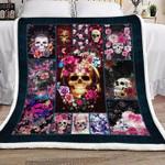 Gothic Skullcap DTC1012403 Sherpa Fleece Blanket