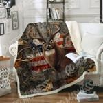 Deer Hunting DTC1012405 Sherpa Fleece Blanket