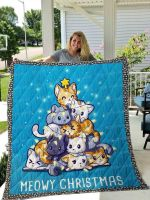 Cat Moewy Christmas DTC1212825 Quilt Blanket