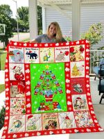 Elephant Christmas DTC1212820 Quilt Blanket