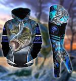 Premium Unique Bass Fishing Hoodie Set Ultra Soft and Warm LTA261153DA