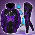 Butterfly Violet TC141202HD Legging Hoodie Tanktop Set