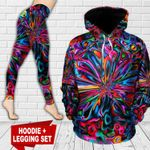 Hippie Psychedelic TC171105HD Legging And Hoodie Ultra Soft and Warm