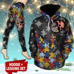 Autism Skull TC191101HD Legging And Hoodie Ultra Soft and Warm