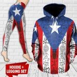 Puerto Rico Flag TC171106HD Legging And Hoodie Ultra Soft and Warm