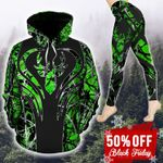Deer Country Girl Green TC251103HD Legging And Hoodie Ultra Soft and Warm