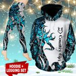 Deer Hunting Country Girl TC191104HD Legging And Hoodie Ultra Soft and Warm