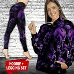 Skull Purple TC121123HD Legging And Hoodie Ultra Soft and Warm