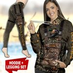 Duck Hunting Country Girl TC091129HD Legging And Hoodie Ultra Soft and Warm