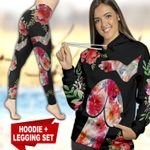 Dog Flower TC121118HD Legging And Hoodie Ultra Soft and Warm