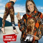 Highland Cattle Hunting Country Girl TC091131HD Legging And Hoodie Ultra Soft and Warm