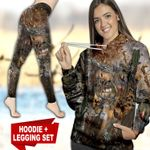 Deer Hunting Country Girl TC091127HD Legging And Hoodie Ultra Soft and Warm