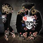 Flower Skull TCCL041127 Legging And Hoodie Ultra Soft and Warm