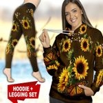 Butterfly Sunflower TC121117HD Legging And Hoodie Ultra Soft and Warm