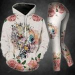 Maude Skull TCCL051114 Legging And Hoodie Ultra Soft and Warm