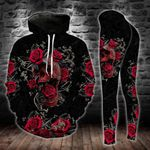 Rose Skull TCCL041139 Legging And Hoodie Ultra Soft and Warm