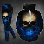 Flaming Skull TCCL041122 Legging And Hoodie Ultra Soft and Warm
