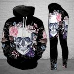 Flower Skull TCCL041126 Legging And Hoodie Ultra Soft and Warm