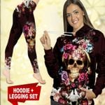 Purple Skull TC021113CT Legging And Hoodie Ultra Soft and Warm