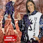 Country Girl Purple TC021108CT Legging And Hoodie Ultra Soft and Warm