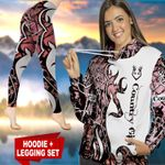Country Girl Pink TC021107CT Legging And Hoodie Ultra Soft and Warm