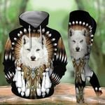 Wolf Native American TCCL041149 Legging And Hoodie Ultra Soft and Warm