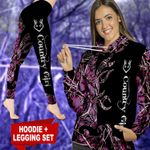Purple Country Girl TC021111CT Legging And Hoodie Ultra Soft and Warm