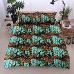 Teal Camouflage DAC27119 Bedding Set
