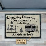 Personalized Camping One Campsite Customized Doormat DHC0406183