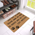 To Knock And Get The Cats Involved Doormat DHC04061230