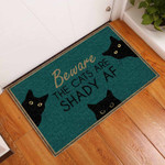 The Cats Are Shady Black Cat Doormat DHC0406421