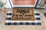 If We Dont Answer Tennis Coir Pattern Doormat DHC0406144
