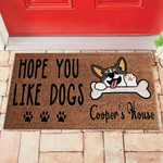 Personalized Hope You Like Dogs Doormat DHC04061267