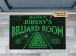 Personalized Billiard Club Welcome Customized Doormat DHC0406280