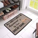Aguests Must Be Approved By Our Fawn Great Dane Doormat DHC04061193
