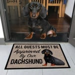 Aguests Must Be Approved By Our Dachshund Doormat DHC04061246