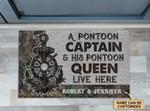 Personalized Pontoon Captain And Pontoon Queen Doormat DHC0406346