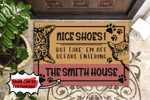 Personalized Cats Nice Shoes Doormat DHC0406459