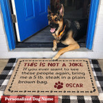 This Is Not A Joke Personalized Doormat DHC040657