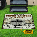 Personalized Camping Drunk Camper Matter Customized Doormat DHC0406177