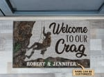 Personalized Climbing Welcome To Our Crag Doormat DHC0406342