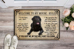 Ta Labrador Retriever Welcome To My House Rules Doormat DHC04061342