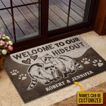 Personalized Raccoon Couple Hideout Customized Doormat DHC0406199