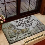 Personalized Hiking An Old Hiker Live Here Customized Doormat DHC0406276