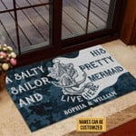 Personalized Sailor Camo Pretty Mermaid Customized Doormat DHC0406203