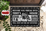 Personalized Skustand Outside And Get Right Doormat DHC0406365