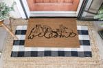 Welcome Cat Coir Pattern Doormat DHC0406103