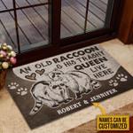 Personalized Raccoon Trashy Queen Customized Doormat DHC0406198