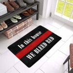 In This House We Bleed Red Doormat DHC04061253