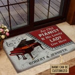 Personalized Piano Couple Live Here Customized Doormat DHC0406204
